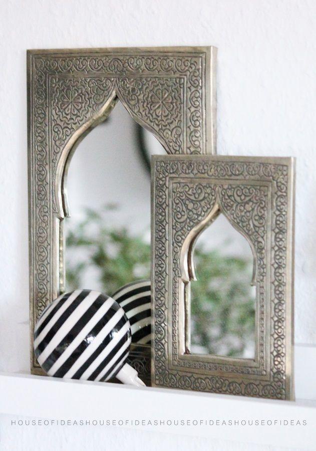 Marokkanischer Spiegel Gross 21 5 X 14 Cm Marokkanischer Spiegel Marokkanische Einrichten Marokkanischer Stil