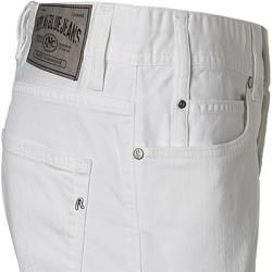 Replay Jeans Shorts Herren, Baumwoll-Stretch, weiß Replay