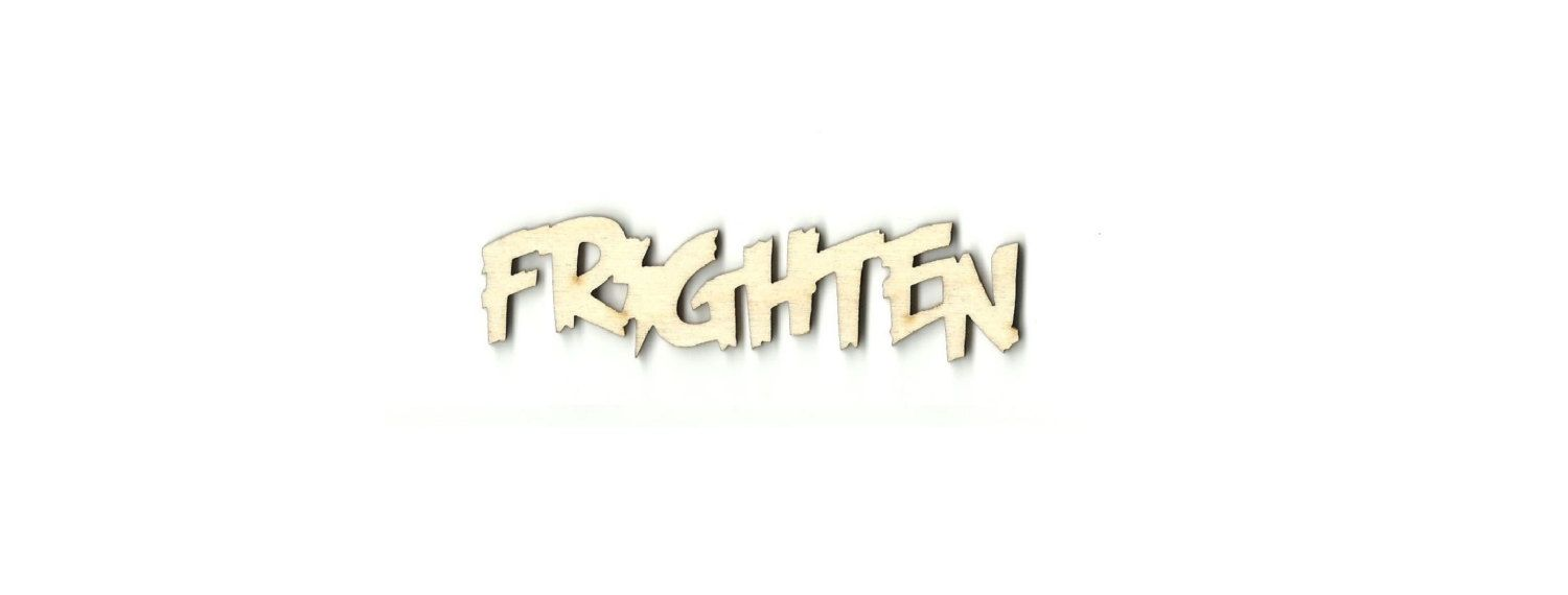 Unfinished wood craft pieces - Frighten Word Laser Cut Unfinished Wood Shapes Variety Of Sizes Craft Supply Diy Fal26