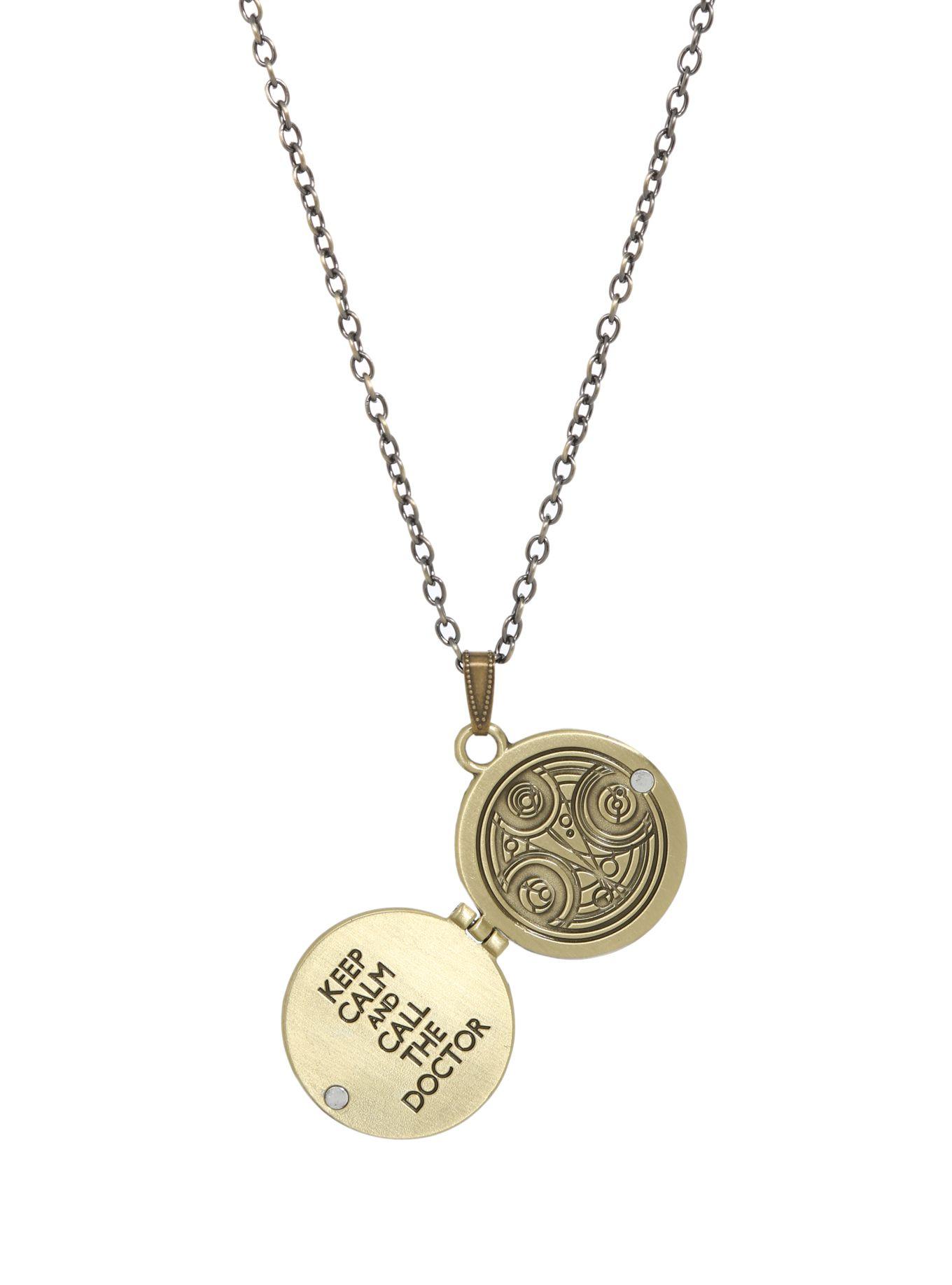 Doctor Who Gallifreyan Locket Necklace