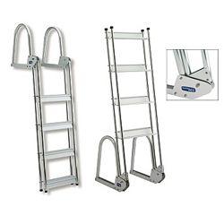 Garelick Anodized Aluminum Flip Up Dock Ladder West Marine Dock Ladder Ladder Folding Boat