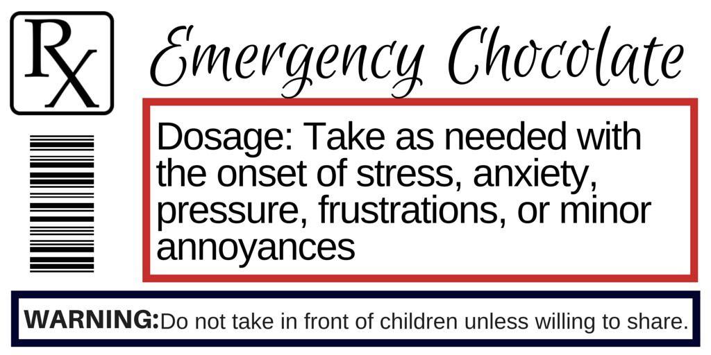 Prescription Label For Emergency Chocolate Staff Gifts