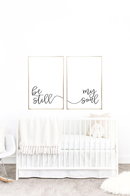 You Print Printable Wall Art Be Still My Soul 24x36 Jpegs Home Decor