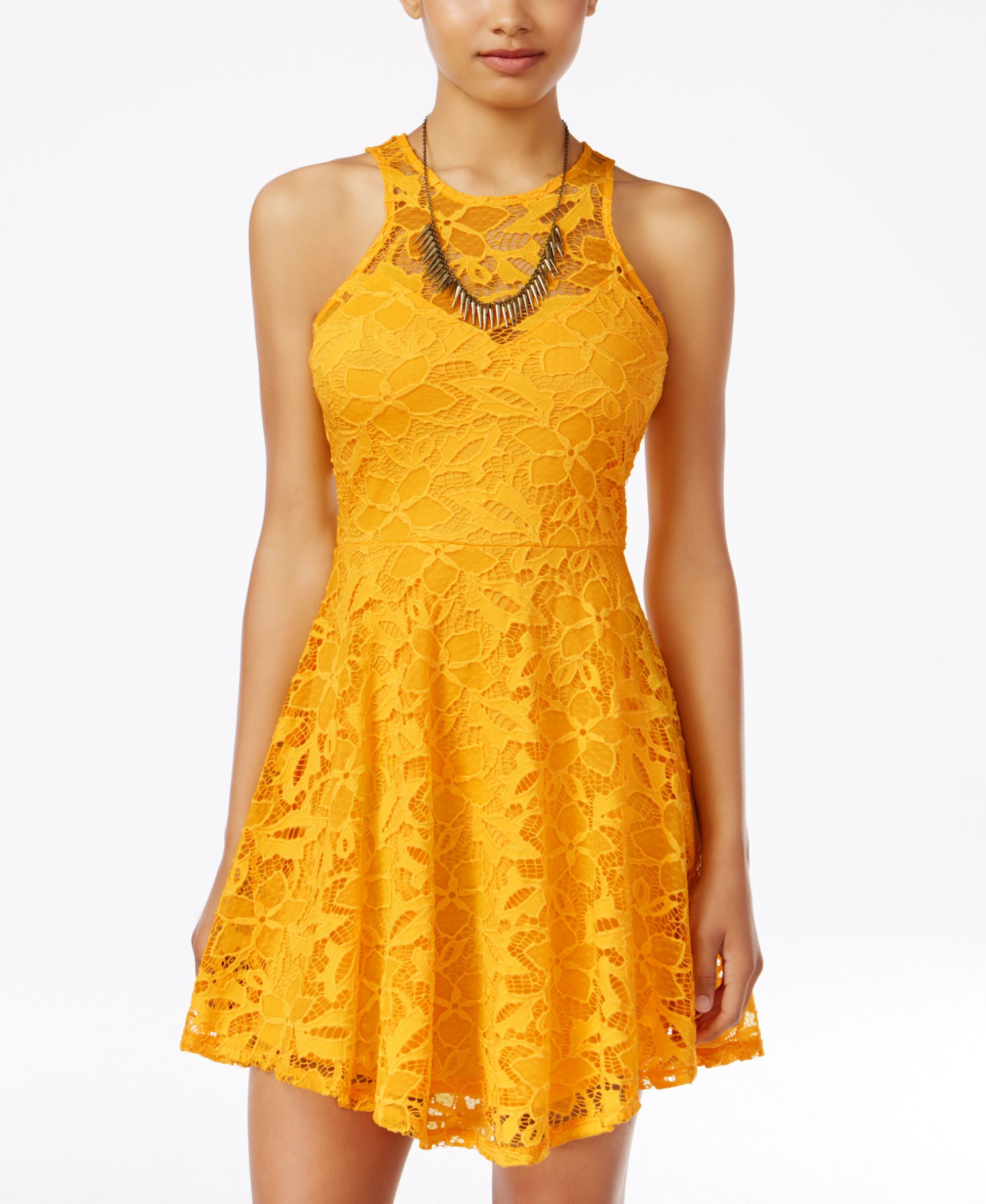 Material Girl Juniors  Lace Skater Dress 9e7f4a9a7