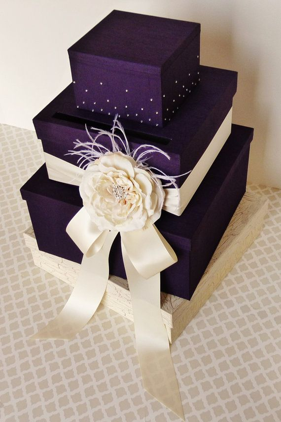 Wedding Card Box Maybe A Little Lighter Purple Card Box