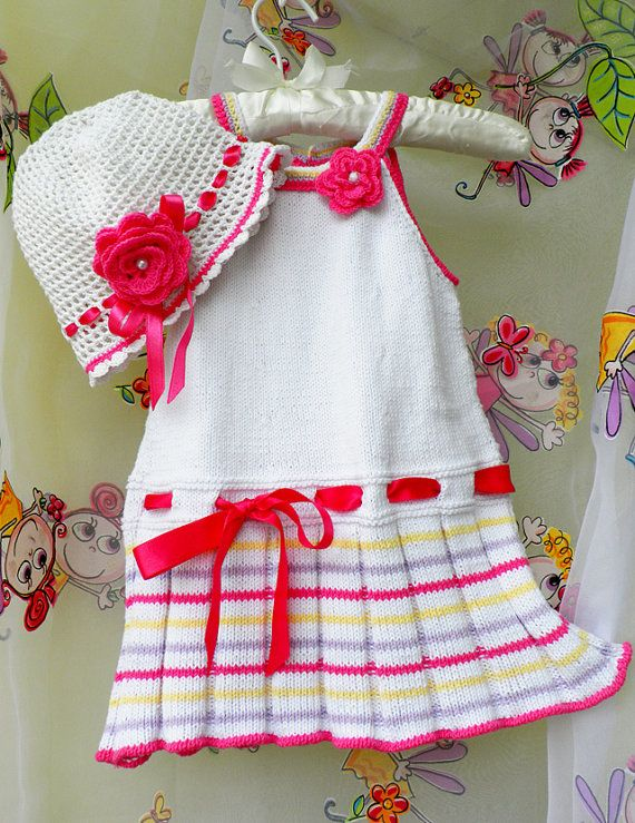 Knitted dress and hat | Crochet | Pinterest | Tejido, Vestidos ...
