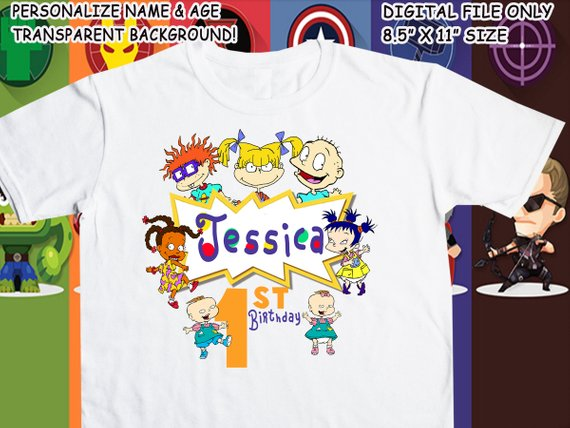 photo about Printable Iron on identify Rugrats Printable Iron Upon Go - Custom made Custom-made T