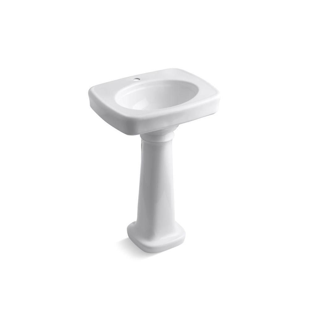 Kohler Bancroft Vitreous China Pedestal Combo Bathroom Sink In