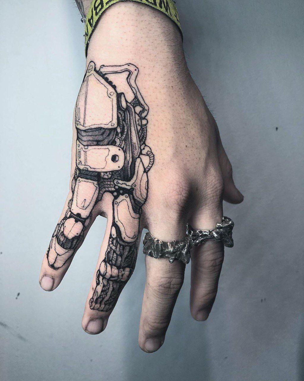 Mechanic Tattoo By Eddie Eddiexbird From Arcadia Usa Ca In 2020 Hand Tattoos For Guys Hand Tattoos Palm Tattoos