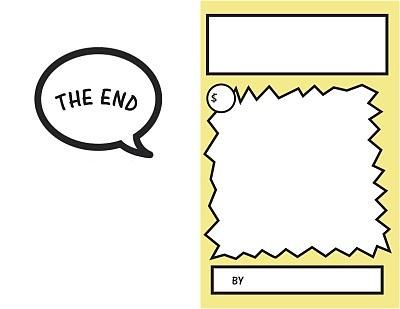 Blank Comic Book Pages Writing Comic Book Template