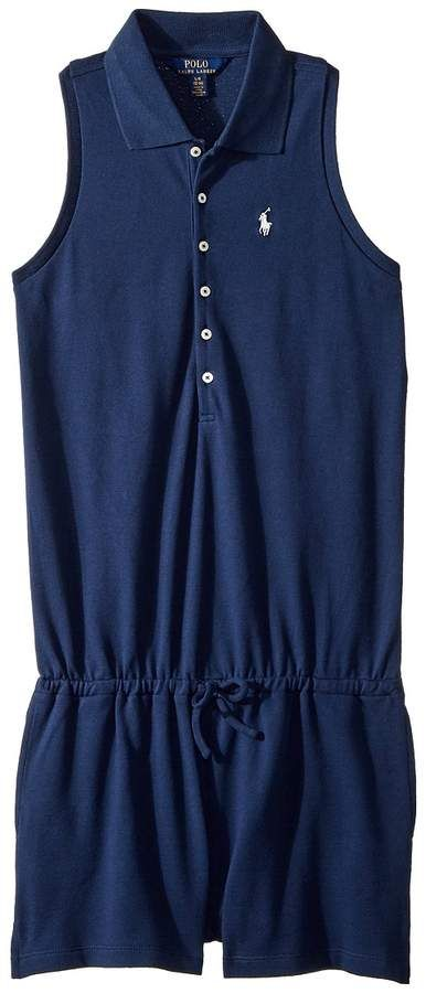 a1ede10bf934 Polo Ralph Lauren Stretch Cotton Mesh Romper Girl s Jumpsuit   Rompers One  Piece