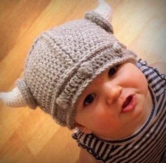 gorro para niño casco vikingo tejido de estambre w1013  f330dca186e