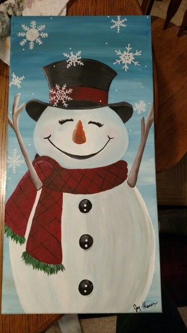Snowman Painting On Canvas Christmas Paintings On Canvas Christmas Canvas Christmas Paintings