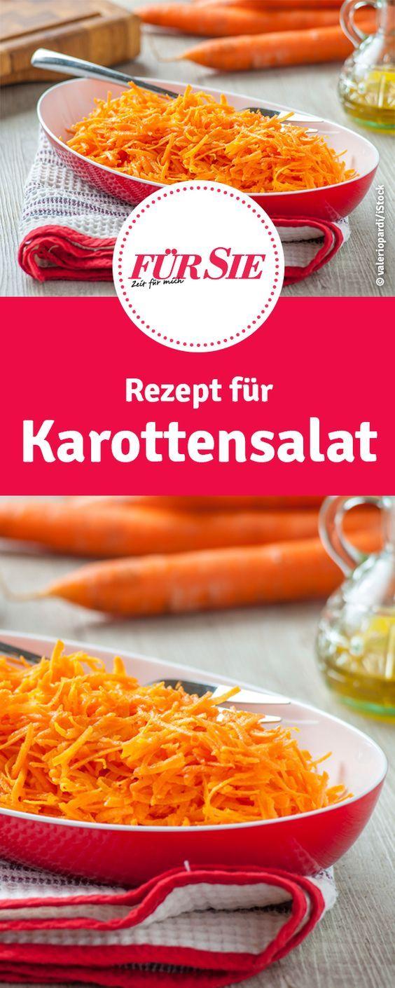 Karottensalat in zwei Varianten