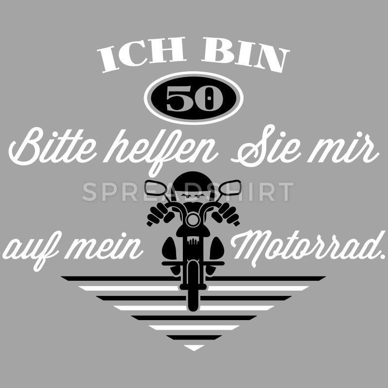 50th Birthday Motorcycle Color Change Men Gradient T Shirt