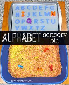 Alphabet Sensory Play for Preschool