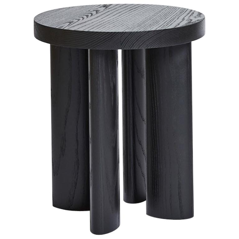 Jamie Gray Stool Orbit Four Legged Side Table Ebonized Ash American Modern Wood Stool Vintage Stool Vintage