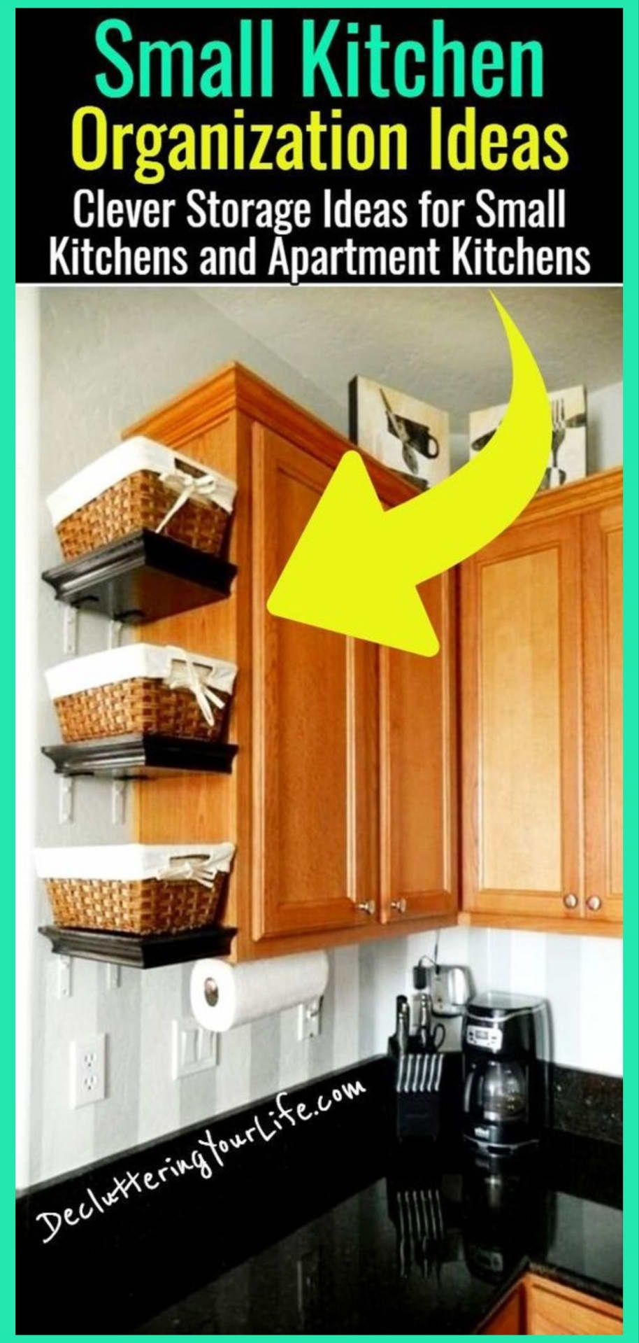 Declutter Your Kitchen - DIY Shelves To Organize a Country Farmhouse Kitchen on a Budget - Decluttering Your Life