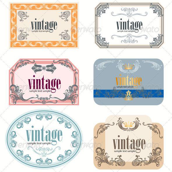 Wine Labels Design Template Set #GraphicRiver | valentine | Pinterest