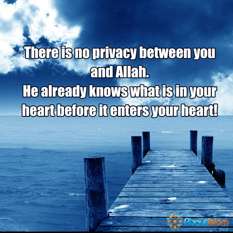 No Privacy Between You And Allah Faith Islam Love In Islam