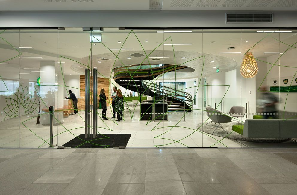 BP Oil New Zealand Auckland Head Office #Reception Office designs
