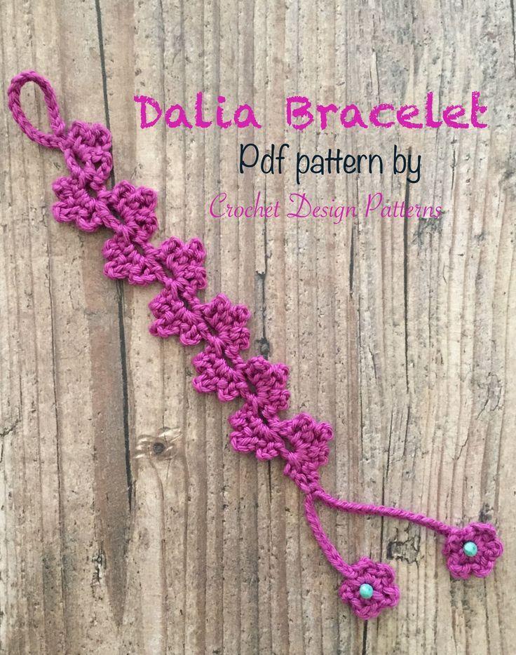 Dalia Bracelet - pdf Crochet Pattern -