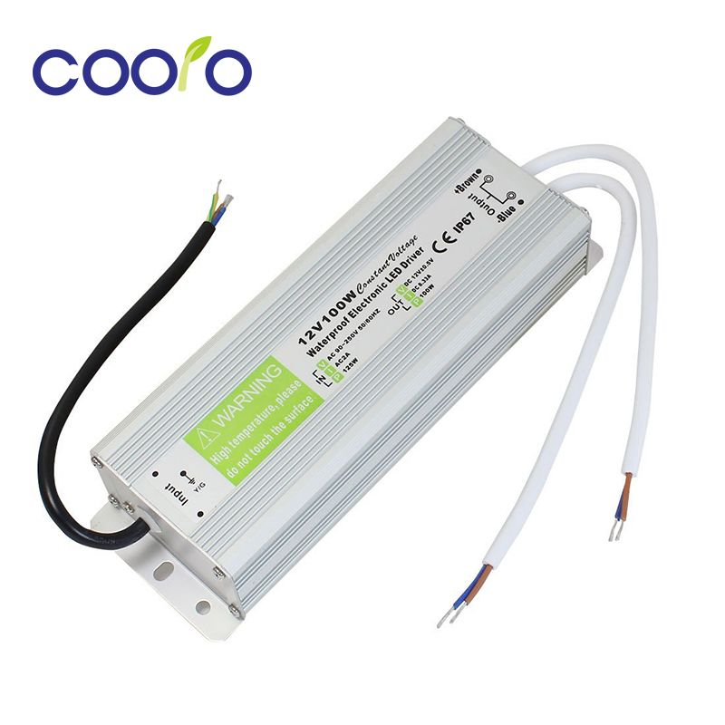 Dc 12v 100w Waterproof Ip67 Electronic Led Driver Outdoor Use Power Supply Led Strip Transformers Power Adap Waterproof Led Lights Led Power Supply Led Drivers