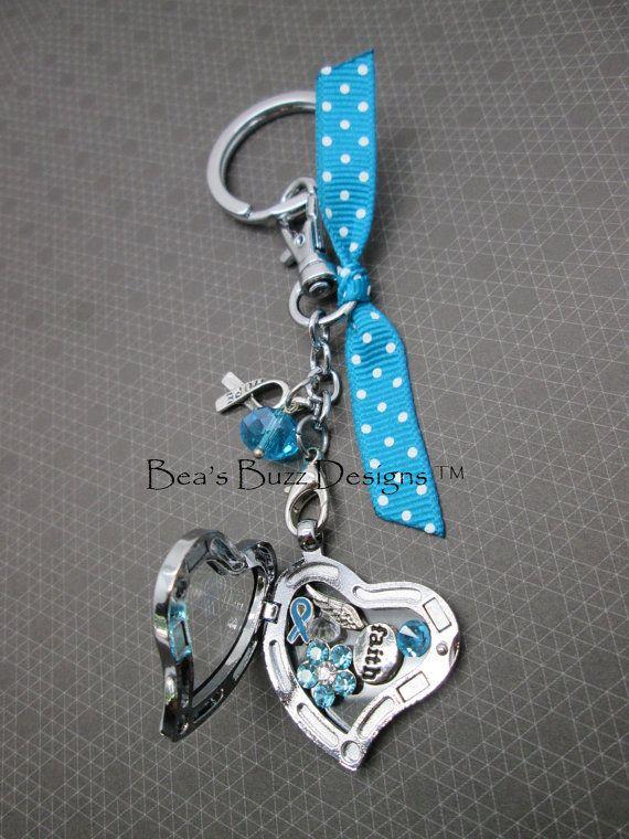 floating charm memory locket key chain by beasbuzzdesigns