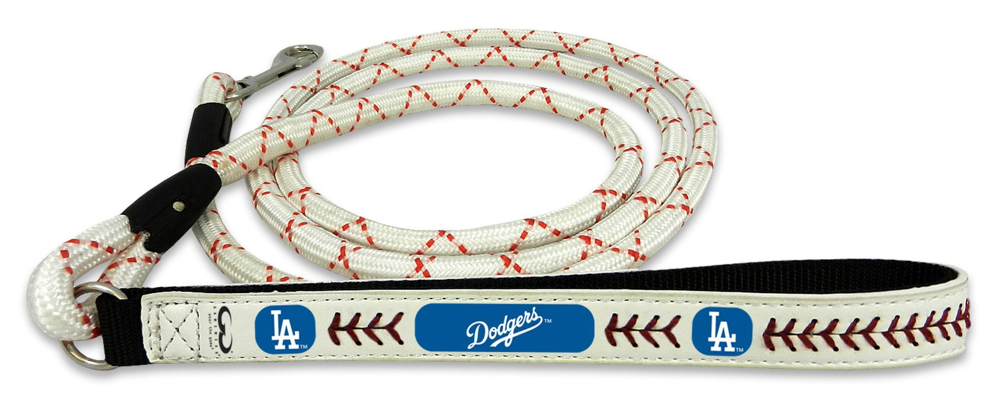 Los Angeles Dodgers Baseball Leather Leash - L