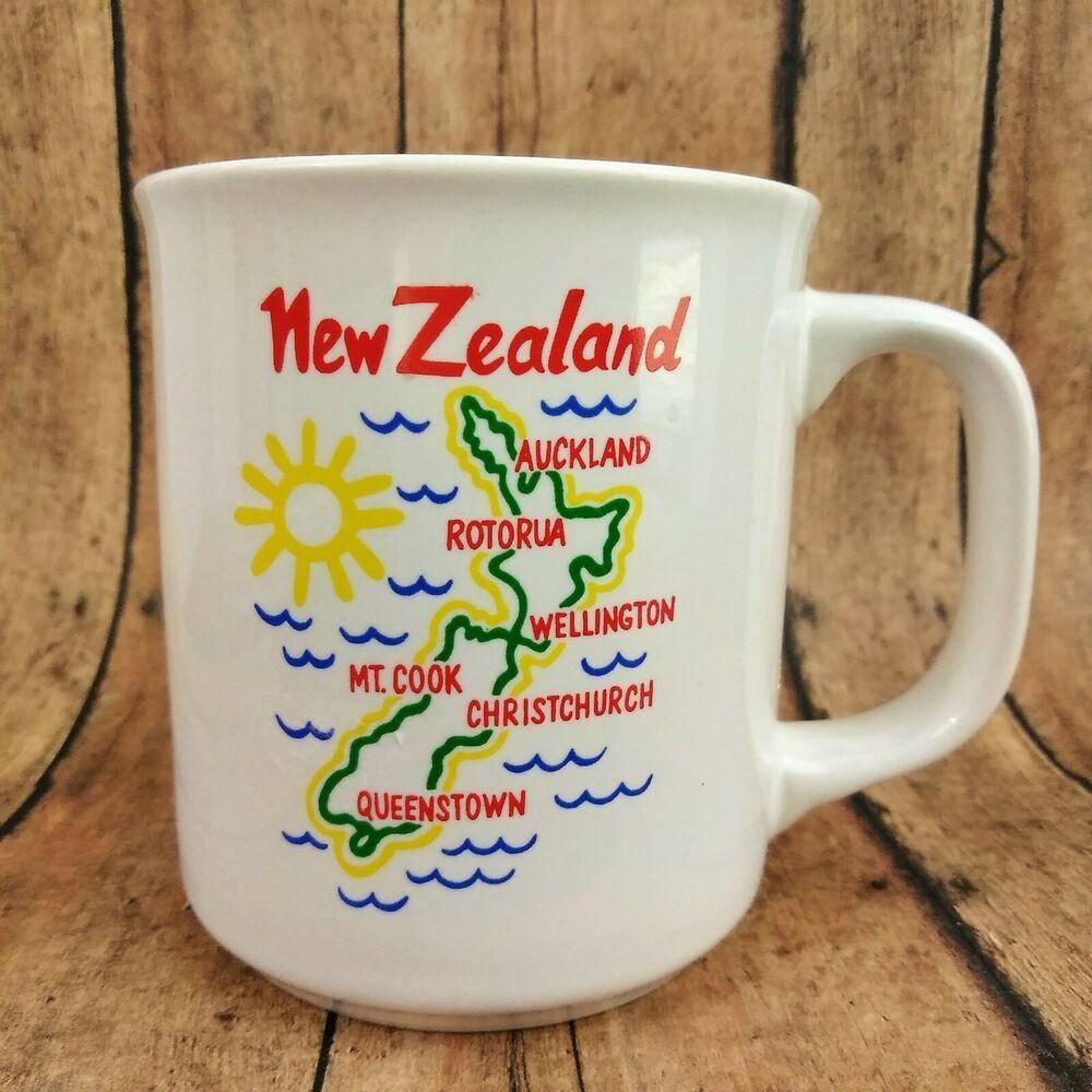 New Zealand Coffee Tea Mug 8 oz Travel Souvenir Unbranded