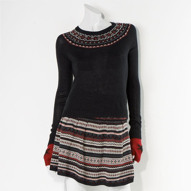 Princess Vera Wang Placed Fair Isle Sweater - Juniors | Fashion ...
