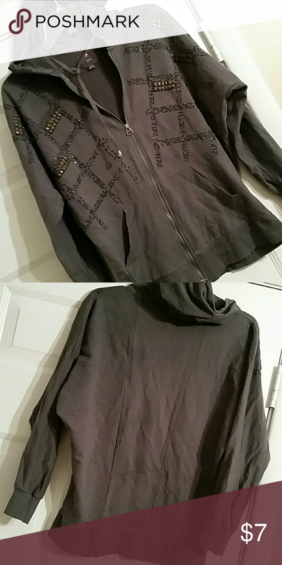 Very cool batwing hoodie Gently worn excellent condition XXI  Tops Sweatshirts & Hoodies