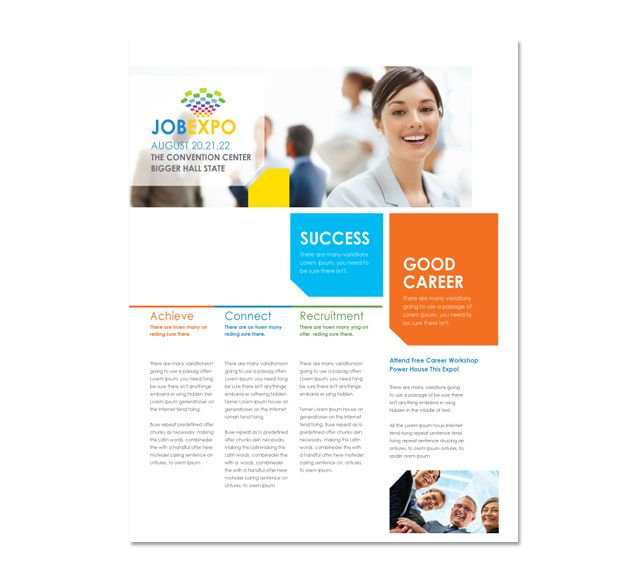 Career Fair Flyer Template http\/\/wwwdlayouts\/template\/548 - brochures templates word