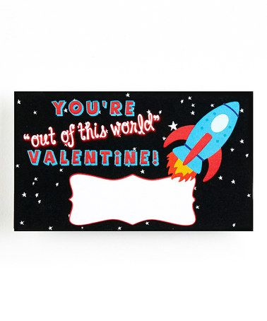 Another great find on #zulily! 'Out of This World' Blank Valentine - Set of 20 by Stamp Out Online #zulilyfinds