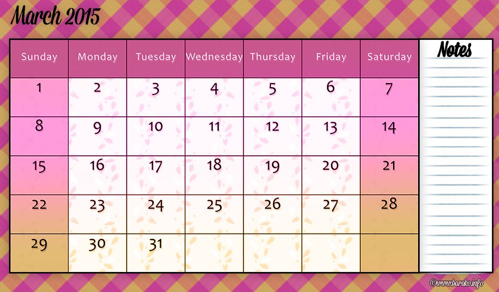 free printable march 2015 calendar template