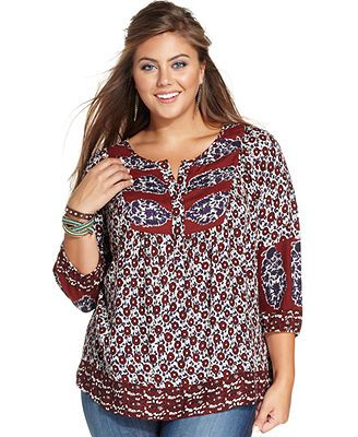 a2e0d4281e2 Caralyn Mirand for Lucky Brand Plus Size Printed Top