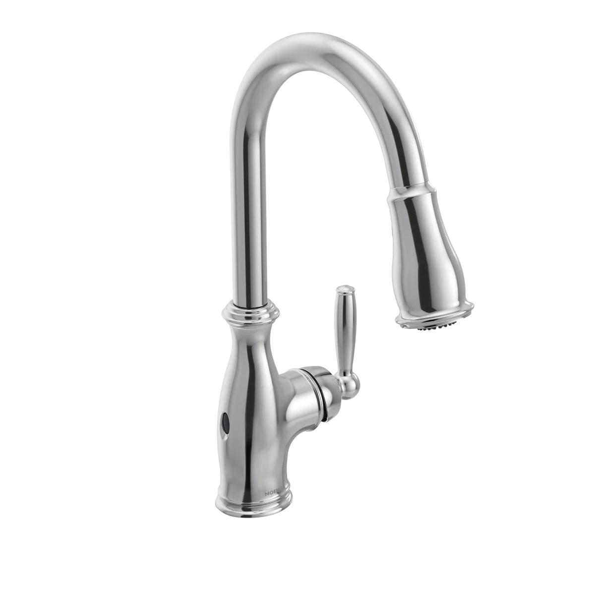 Moen 7185ew Faucet Touchless Kitchen Faucet Kitchen Sink Faucets
