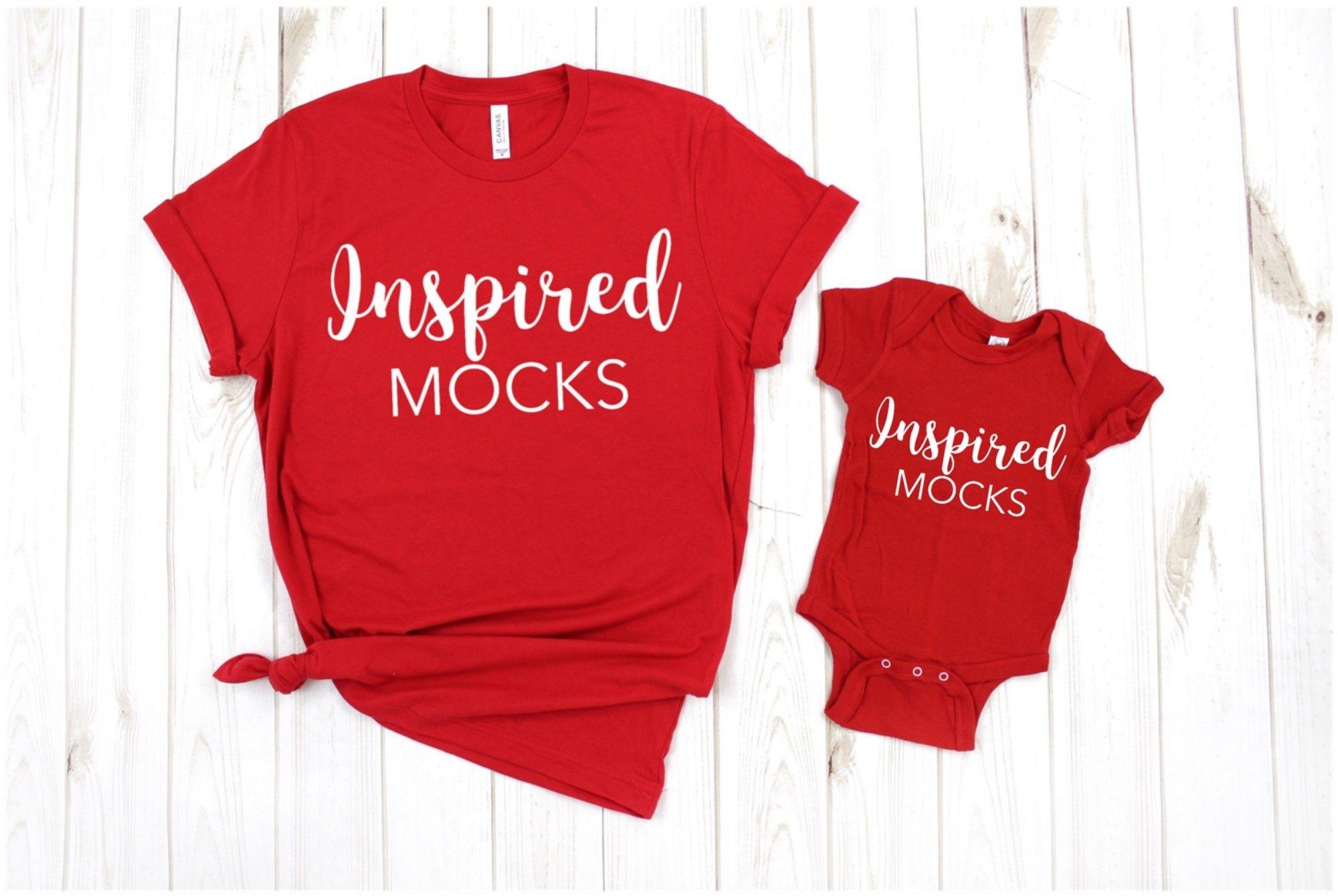 Rabbit Skins 3322 Red Tshirt Mockup Patriotic Shirts Mock Up Flat Lay 4th of July Shirts Mockup Childrens Shirt Mockup Toddler Blank Shirt