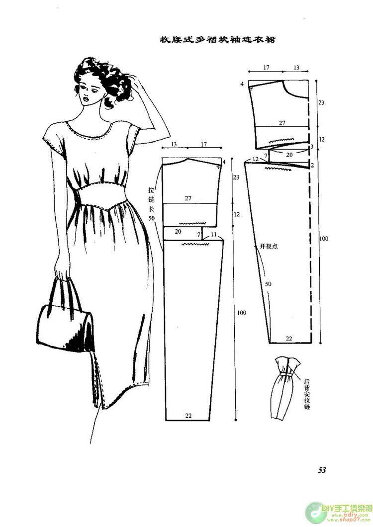 DIY dresses with patterns | trajes con moldes | Pinterest | Patrones ...