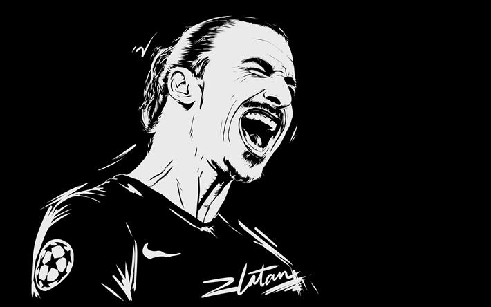 Download Wallpapers Zlatan Ibrahimovic 4k Minimal Art Football Stars Ibrahimovic Besthqwallpapers Com Zlatan Ibrahimovic Portrait Sketches Football Wallpaper