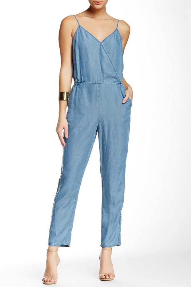 e3be3adf739  168 CeCe by CYNTHIA STEFFE BLUE CHAMBRAY DENIM FELICITY JUMPSUIT WOMENS 2  NWT  CeCe  Jumpsuit