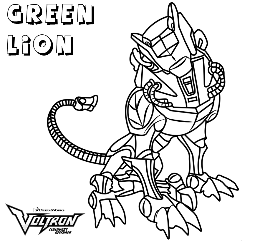Voltron Coloring Pages Best Coloring Pages For Kids Lion Coloring Pages Coloring Pages Voltron Green Lion