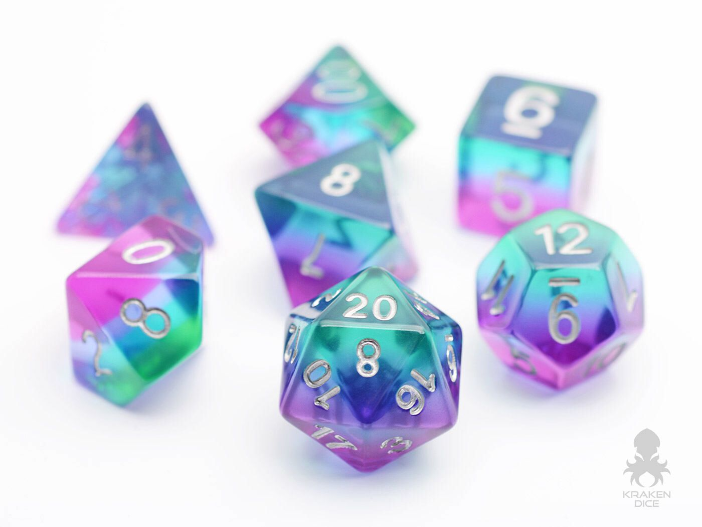 Mermaid Glass Dice Set D D Dice Set Dungeons And Dragons