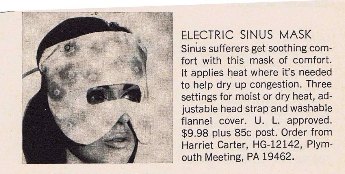 Plug Me In!  Electric Sinus Mask - Ad 1974