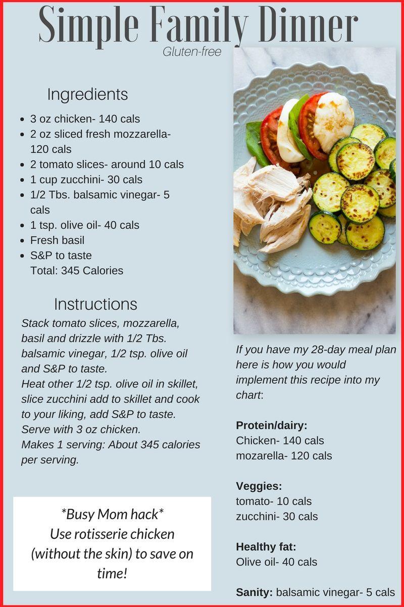 Simple Family Dinner Recipe Fitness Carli Easy Family Dinners Family Dinner Recipes Family Dinner