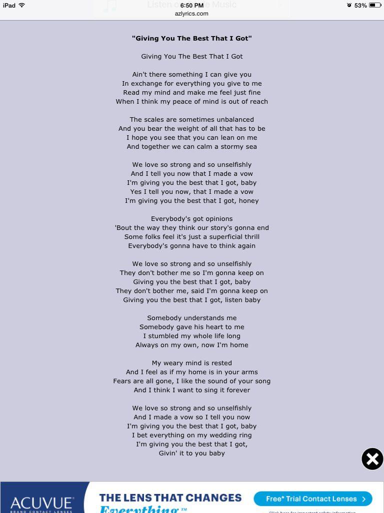 Piece Of Yo Love Lyrics : piece, lyrics, Anita, Baker, Giving, Lyrics, Perfect, Bride, Beloved, Reception., Lyrics,