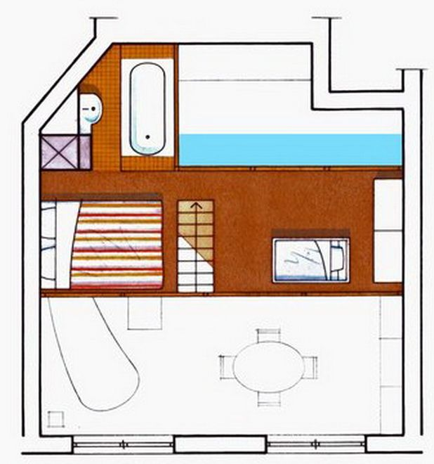 Help Getting A Apartment: Very Stylish 50 Square Meter Family Duplex Apartment