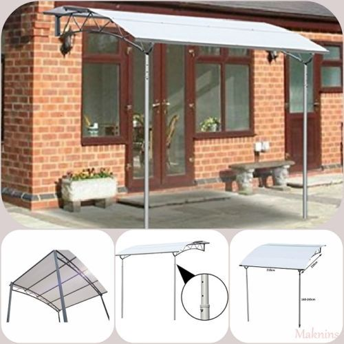 Wall Mounted Awning Garden Sun Shade Gazebo Door Window Patio Rain Shelter  Metal