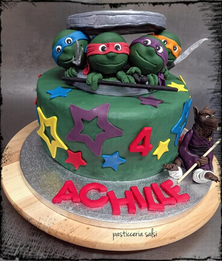 Ninja Turtles Cake Cake By Barbara Saliprandi Tartarughe Ninja - Birthday cake barbara