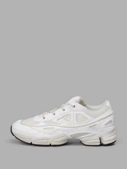 new product 65b94 49505 RAF SIMONS MEN S WHITE OZWEEGO 3 SNEAKERS - WHITE - IN COLLABORATION WITH  ADIDAS - WHITE LACES - RUBBER SOLE - 100% POLYESTER - MADE IN CHINA